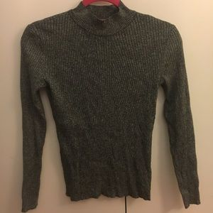 Snug Gray Turtleneck